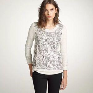 J. Crew gray haya sequin sweatshirt sz XS pullover